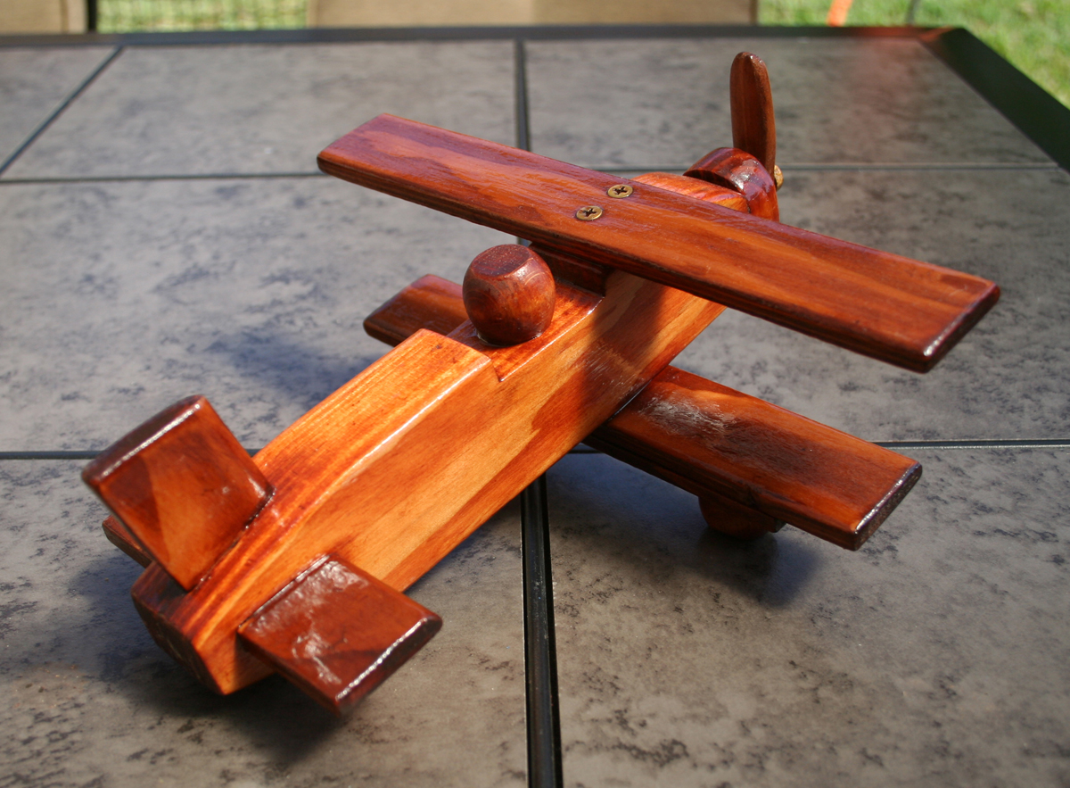 Rustic Wood Vintage Airplane